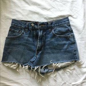 Levi's denim cutoffs shorts